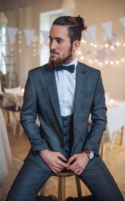 Handsome Young Man with Suit